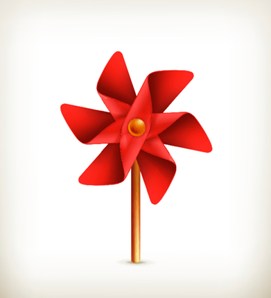 red pinwheel